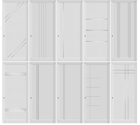 Painéis de portas lisos